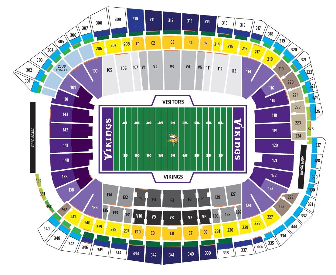 US Bank Stadium, Minneapolis MN | Seating Chart View